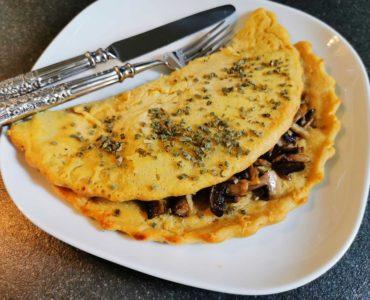 Omelette-vegan-champignons